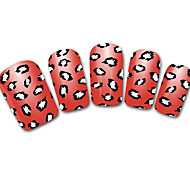 Snowflake/Leopard/Lace White/Black Abstract 3D Nail Sticker