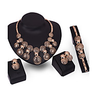 Women Bohemia Wedding Bridal Necklace Earrings Bracelet Four Sets Class Party Dinner Accessories Tanabata Festival Gift