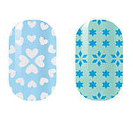 White/Blue Hollow Nail Stickers