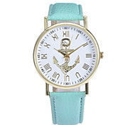 Women's Fashionable Leisure Simple Anchor Pattern Dial Watches Leather Band Cool Watches Unique Watches