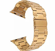 tre solido fascia cinturino di orologio in acciaio inossidabile in metallo per l'orologio di Apple 38/42 millimetri (colori assortiti)