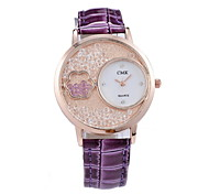 Women's Fashionable Hand Micro Diamond Leisure Watches Leather Band Cool Watches Unique Watches