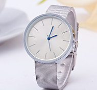 Women's Fashion Watch Quartz Alloy Band Silver Rose