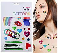 Ink Painting Temporary Tattoo Colorful Graffiti Tattoos Tatuagem Club Musical Beach For Body Art