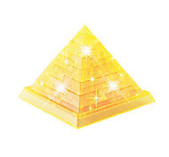 Diy 3D Crystal Pyramid Blocks Puzzle Children Educational Toys Creative Small Ornament Toys Without Light