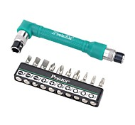 Pro'sKit® Precision L-shaped Angle Head Twin Wrench Driver Set  10 in 1 Socket Screwdriver Set