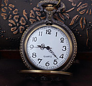 Unisex Pocket Watch Korea Retro Flip Queen DAD Quartz Pocket Watch