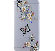 Butterfly Translucent Luminous TPU Soft Phone Case for iPhone 6/6S