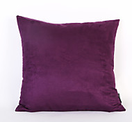 Purple Color Suede Cushion Cover