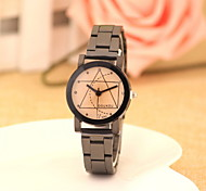 Women's Fashionable Leisure Solid Geometry Diamond Mirror Stainless Steel Alloy Watch