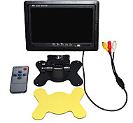 7 Inch TFT-LCD Car Rearview Monitor Car Security Monitor 2 AV Channel