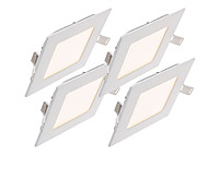 4pcs/lot 6W Square Dimmable LED Panel light 2800-6500K SMD 2835 Epistar chip AC85-265V