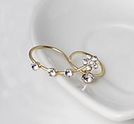 HUALUO®Korean fashion pearl ring inlaid crystal ring lady elegant holiday gift