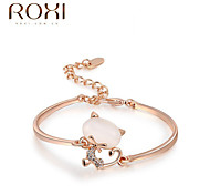 18k Gold /Silver Crystal Bracelet Bangle Jewelry for Lady