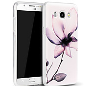 3D Relief Graphic Pattern Fashion Silicone Material Back Cover for Samsung Galaxy J5(2016)
