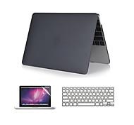"""claro caso de toque suave 3 em 1 de cristal com tampa do teclado e protetor de tela para MacBook Air 11 """"/ 13"""""""