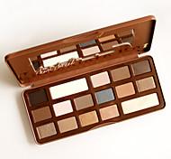 al frente de chocolate dulce / 16-color de los ojos ahumados paleta de semi sombra con espejo