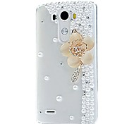 KARZEA™3D Crystal Lingers Over Flower Diamond Flowers PC Back Case for LG G2/G3/G4/G5