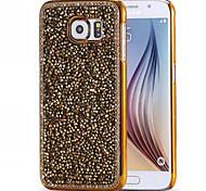 cascalho escudo do telefone de metal diamante de flash para Samsung Galaxy S6 / S7 / S6 EDGE EDGE / s7