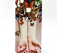 Para Funda Huawei / P9 Lite / P8 Lite Diseños Funda Cubierta Trasera Funda Mariposa Suave TPU HuaweiHuawei P9 Lite / Huawei P8 Lite /