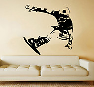 Fashion Skating Skiing  Wall Stickers  Transportation / People / Sports Wall Stickers Plane Wall Stickers,VINYL 57*58cm