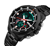 Men's Brand Luxury Analog & Digital Double Time Steel Sports Watch Cool Watch Unique Watch