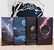 1PC Office Stationery Beautiful Moon Hardcover Notebook Notepad(Style random)