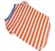 Hunde T-shirt Grün / Blau / Orange Hundekleidung Sommer Streifen Zebra