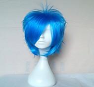 высокое качество голубой парик косплей парики из синтетических волос человека короткие прямые анимированные парики парики партии 072a