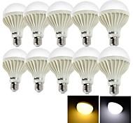 Bombillas LED de Globo Decorativa YouOKLight A50 E26/E27 3W 6 SMD 5630 200 LM Blanco Cálido / Blanco Fresco AC 100-240 V 10 piezas