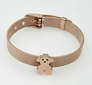 Net Watch Band Stainless Steel Bear Bracelets