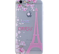 TPU Material Glow in the Dark Translucent Transmission Tower Relief Soft Protection Phone Case for iPhone 5/5S/SE