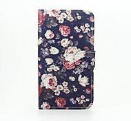 For Wiko Case with Stand / Flip / Pattern Case Full Body Case Flower Hard PU Leather Wiko