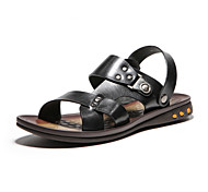 Aokang® Men's Super Breathable Leather Sandals(black)