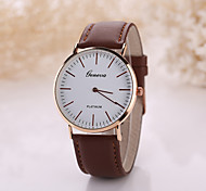 Men's White Case Leather Band Analog Quartz Wrist Watch Cool Watch Unique Watch