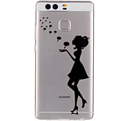 Dandelion Sexy Lady Pattern Embossed TPU Case for P9/ P9 Lite