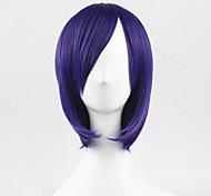 парик косплей синтетический Машинное плетение парики Короткий Лиловый Волосы