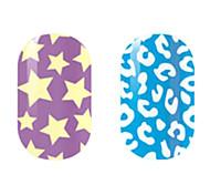 Yellow/White Hollow Nail Stickers