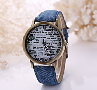 Men/Women White Case Leather Band Analog Quartz Wrist Watch Cool Watch Unique Watch Fashion Watch