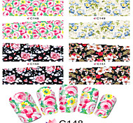 1pcs  Nail Art Water Transfer Stickers Sexy Leopard Image And Beautiful Flower Image C148-155