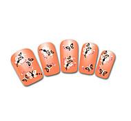 Lovely Orange Snow Leopard Lace Nail Jewelry