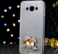 For Samsung Galaxy Case Rhinestone Case Back Cover Case Glitter Shine TPU Samsung J3 / J2