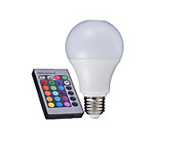 10W / 15W E26/E27 LED Kugelbirnen A60(A19) 6000 High Power LED 500-650 lm RGB Ferngesteuert AC 85-265 V 1 Stück
