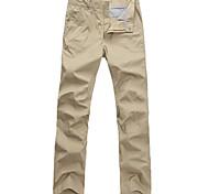 Lesmart Hommes Droite Pantalon Marron - MDMK3207