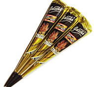 Halloween 3pcs/lot 30g Indian Black Henna Temporary Tattoo Paste Tube Cone Body Art