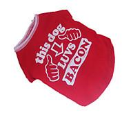 Perros Camiseta Rojo Ropa para Perro Verano Letra y Número Cosplay