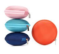 1pc armazenamento caso hold sd transportando caixa de saco de fibra dura para fones de ouvido fone de ouvido 9 * 9 * 4 centímetros de