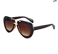 Sunglasses Women's Retro/Vintage / Fashion Mirrored / 100% UV400 Hiking Black / Silver / Gold Sunglasses Full-Rim