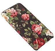 For iPhone 5 Case Pattern Case Back Cover Case Flower Hard PU Leather iPhone SE/5s/5