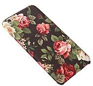 Für iPhone 5 Hülle Muster Hülle Rückseitenabdeckung Hülle Blume Hart PU - Leder iPhone SE/5s/5